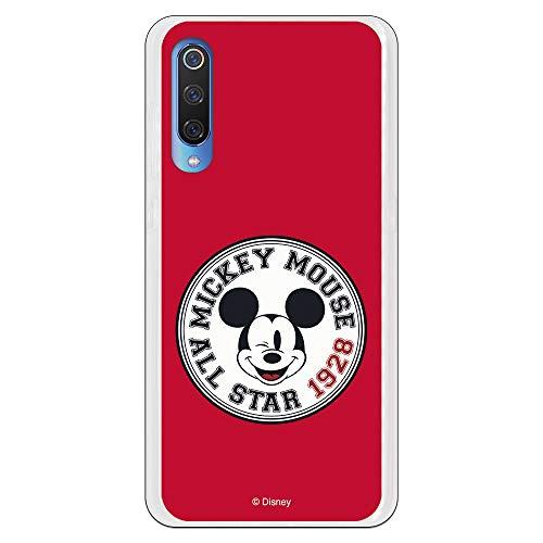 Funda para Xiaomi Mi 9 Oficial de Clásicos Disney Mickey All Star 1928 para Proteger tu móvil. Carcasa para Xiaomi de Silicona Flexible con...