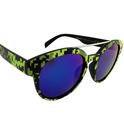Dasoon Vision Gafas de Sol con Estampado geométrico en Verde