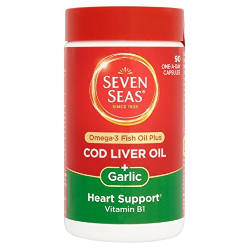 Seven Seas Cod Liver Oil And Garlic Capsules 90 per pack