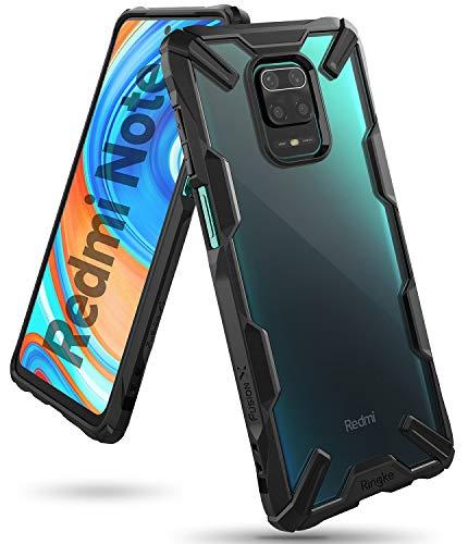 Ringke Fusion-X Designed für Xiaomi Redmi Note 9 Pro Hülle, Note 9s Hülle [Schwarz] Doppelte Hybrid Schutz vor PC + TPU mit Ketten Loch