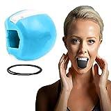 Ejercitador de mandíbula, Tóner Facial Tonificador Facial Ejercitador Equipo Tonificador De Cuello Herramienta De Belleza Facial Ejercicio de la Línea de la Mandíbula (Azul)
