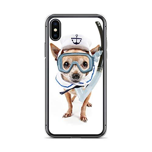 Megacase Handyhülle SAURIER T-Rex kompatibel für Huawei Mate 20 PRO Hund Schnorchel Schutz Hülle Case Bumper transparent rund um Schutz Cartoon M7