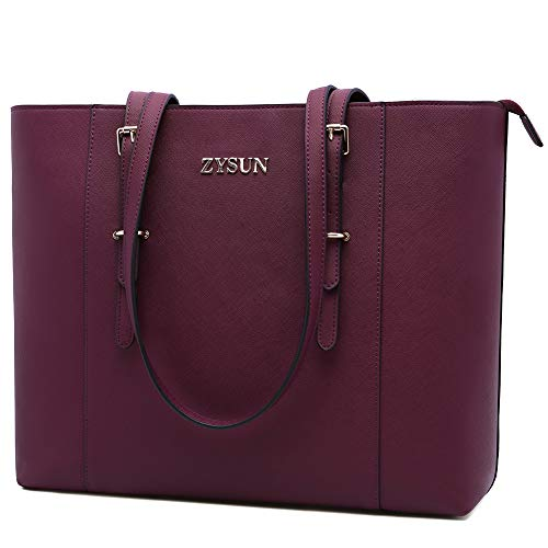 Laptop-Bag-for-Women,17-inch Laptop-Tote-Bag Large Work-Bags Stylish Ladies Laptop-Bags Durable Teacher-Bags Professional Computer-Bag for Office Business Travel,darkpurple-17in
