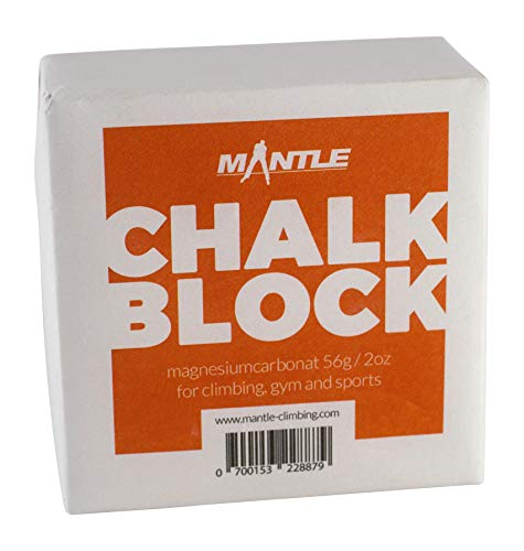 Mantle - Chalk Block Kletterkreide als 1er Pack zum Bouldern Klettern Turnen Gewichtheben