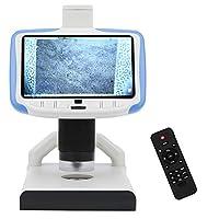 5インチLCDデジタル顕微鏡200X、HDMIデジタル顕微鏡、USB電子顕微鏡ビデオカメラDC5V、大画面ディスプレイ付き、調整可能なスタンドV、携帯電話の修理に使用
