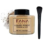 Loose Face Powder, Oil-control Face Makeup Setting Powder with Brush Longlasting Smooth for Shine Si...
