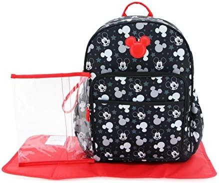 Cudlie Disney Mickey Mouse Baby Boys Multipiece Diaper Bag Backpack with Adjustable Straps in product image