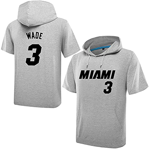3 Wade Boy Sweve Sweat Sweat Sigs Sports Jums Otoño Primavera Luz Casual Slim Clásico Suéter Camiseta Paquete De Traje, Blanco, Gray - L