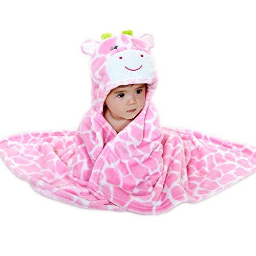 Baby Hooded handdoek deken Badjas 0-3 jaar oud Jongen Meisjes Dierlijke vorm Mantel roze