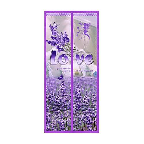 HUASA Magnetische Deur Gordijnen Vliegenscherm (bloem geurig type), Weg houden van muggen insecten insecten, Laat frisse lucht in, Gemakkelijk te installeren zonder boren, 80 * 200CM