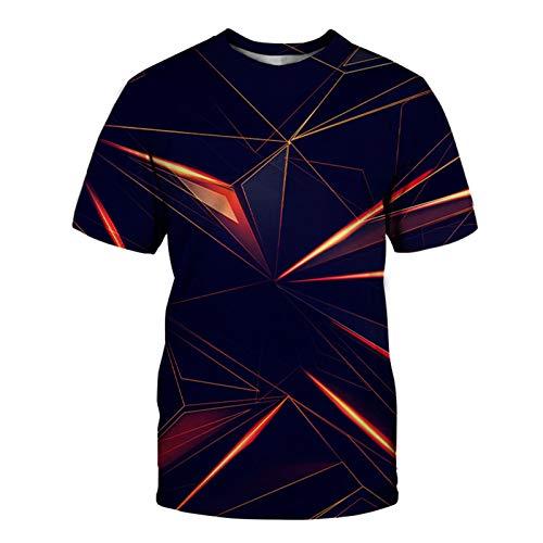 SSBZYES Camiseta para Hombre Camiseta De Manga Corta De Gran Tamaño para Hombre Camiseta con Cuello Redondo para Hombre Camiseta De Pareja Camiseta De Moda para Hombre Creativo Geométrico Digital