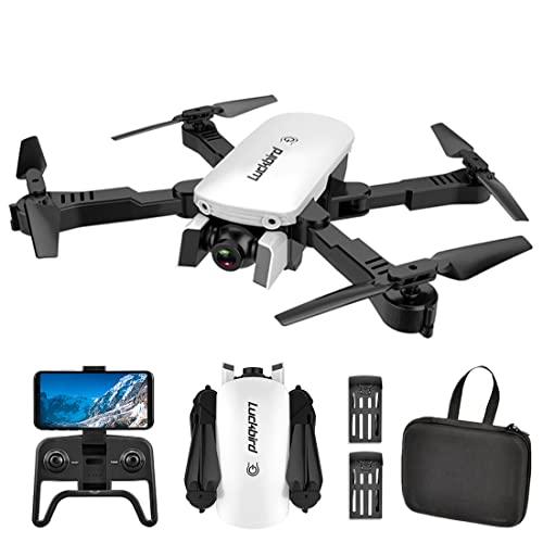 XIAOKEKE Mini RC Drone con Cámara 4K, Drones para Principiantes, Dual Cámara, Posicionamiento De Flujo Óptico, Fotografía De Gestos con Las Manos, Flips 3D, Modo MV, Sígueme, 2 Baterías,Blanco