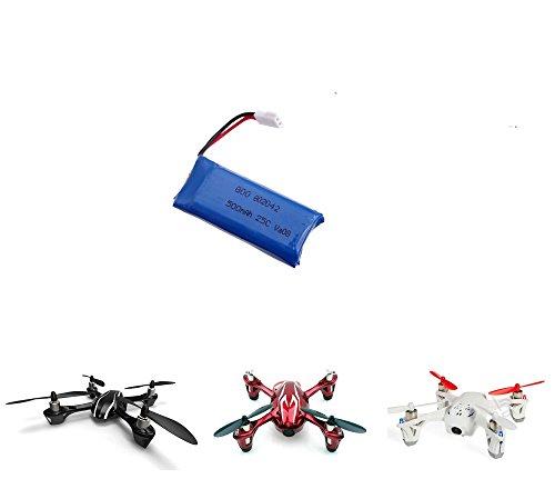 Hubsan Power Upgrade Lipo 3.7V 500mAh Batterie pour modèles, hélices x4, H107, H107C, Quadcopter U816A Batterie de rechange