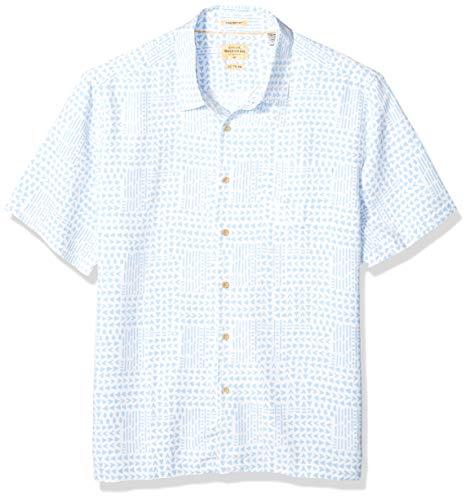 Quiksilver Waterman Men's Tribal Matters Button Down Shirt, White, XL