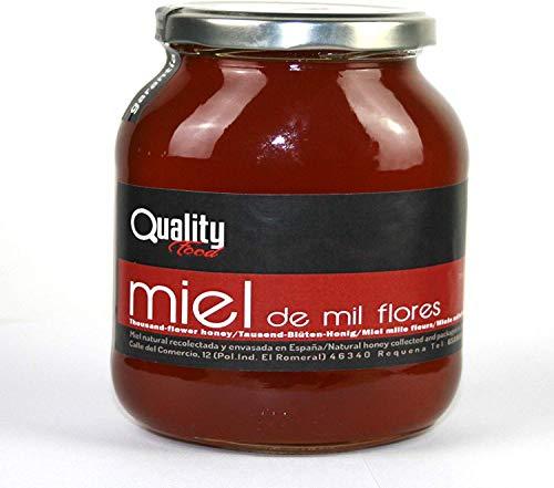 Miel pura de abeja 100{300ba9c675bcb8ce5db3ee8efc4e03986d03b6783478fcf85d9d30d9a2f77f3b}. Miel cruda de Mil Flores. 1 Kg. Producida en España. Sin pasteurizar ni calentar. Artesana de alta calidad. Tarro de cristal. Gran variedad de exquisitos sabores.