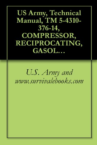 US Army, Technical Manual, TM 5-4310-376-14, COMPRESSOR, RECIPROCATING, GASOLINE ENGI DRIVEN, 15 CFM, 175 PSI, MODEL 50-6840, (NSN 4310-01-164-5544), military ... manauals, special forces (English Edition)