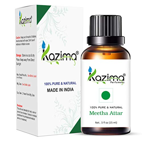 KAZIMA Royal Mughlai Meetha Attar (Edible Grade) (15ML) Mitha Attar For Used in Coocking, Indian cuisines, Especially in Biryani, Polao, Mutton/Chicken, Chops, Qurma, Khushka, Stew, Kababs, ice cream, milkshakes and others Desserts (No Chemical | No Preservatives)