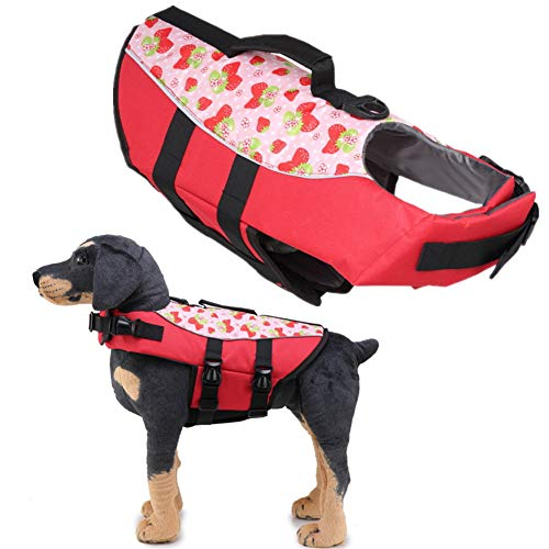 Chaleco Perro Salvavidas Chalecos Salvavidas para Perros Abrigos para Perros Grandes Impermeables para la Vida Chaquetas 07red,Medium