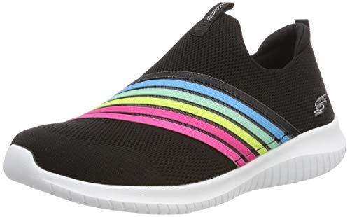 Skechers Damen Ultra Flex-brightful Day Slip On Sneaker, Schwarz (Black Multi Bkmt), 38 EU