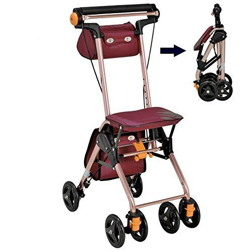 Het helpen van de Oudere Trolley Lichtgewicht En Draagbare Opvouwbare Rollator Walker Standaard Walkers & Wandelen Frames