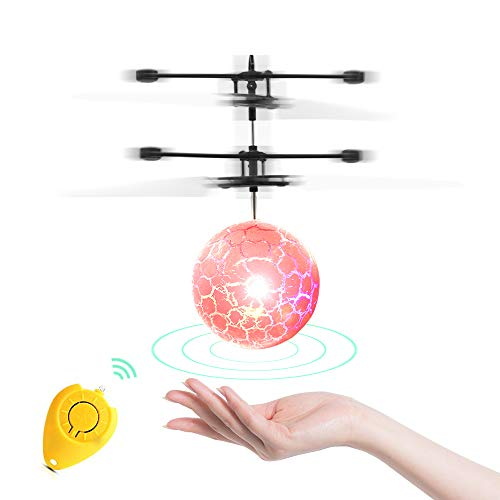Flying Balls, Infrared Induction Remote Control Helicopters with colorful LED light and fast USB charger and Auto Power Off Protection, gifts for boys and girls (Indoor and outdoor)