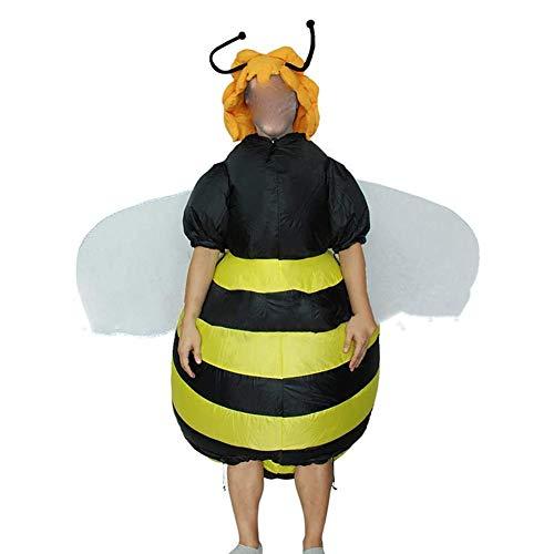 DXQDXQ Traje Gaint Disfraces Abeja Inflable Adulto Traje Inflable Despedida de Soltero Halloween Navidad Carnival Cosplay Fancy Dress Fiesta Costume Amarillo Atuendo