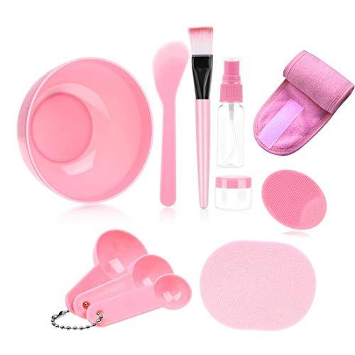 Face Mask Mixing Bowl Set, Lady Facial Care Facemask Mixing Tool Sets include Facial Mask Mixing Bowl Stick Spatula Silicone Cream Mask Brushes.