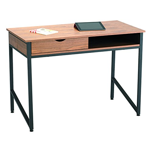 Safco Products Studio Single Drawer Desk, Black