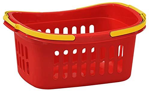 taschen-rucksack24 Einkaufskorb Plastik Kunststoff Korb 50 x 35 x 24 cm Rot