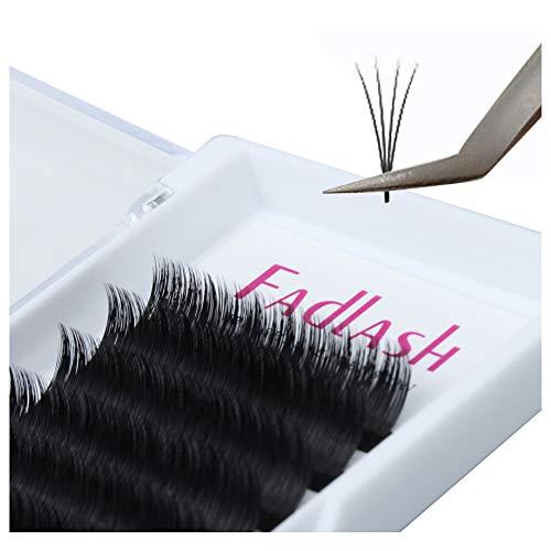 Volume Lash Extensions 0.05 0.07mm Easy Fan Lashes 8~20mm Length FADLASH Eyelash Extensions C/D/DD Curl 2D-10D Easy Fanning Volume Lashes Self Fanning Eyelash Extensions (0.07-D, 8~14mm Mix)