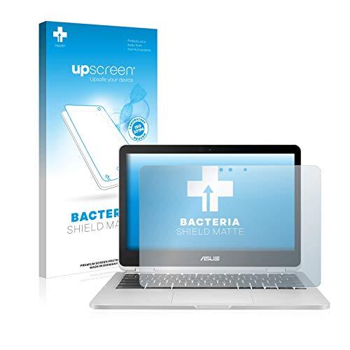 upscreen Antibakterielle Entspiegelungs-Schutzfolie kompatibel mit Asus Chromebook Flip C302 - Anti-Reflex Displayschutzfolie matt, Anti-Fingerprint