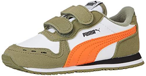 Puma Unisex Baby Cabana Racer Sl V Inf Sneaker, Weiß White-Deep Lichen Green-Firecracker, 22 EU