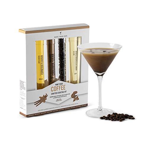 Modern Gourmet Foods - Pimp your Coffee Geschenkset - Set mit Vanille- Sirup, Kaffee-Bohnen, Zimt-Zucker und Drink-Mix