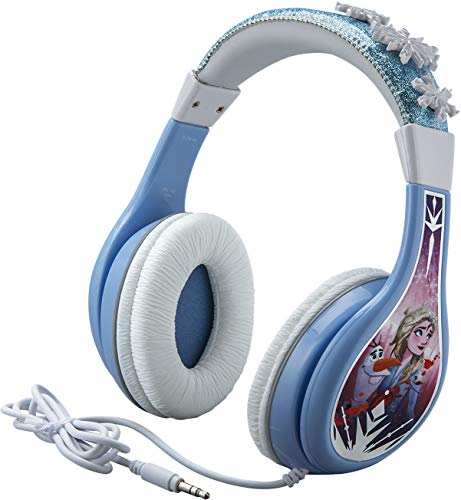 Frozen 2 Kids Headphones, Adjustable Headband, Stereo Sound, 3.5Mm Jack, Wired Headphones for Kids, Tangle-Free, Volume Control, Foldable, Childrens Headphones Over Ear for School Home, Travel