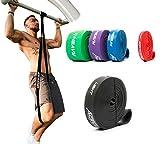 ActiveVikings Bandas de fitness pull-up, perfectas para el desarrollo muscular y Crossfit Freeletics Calistenics, bandas de resistencia (ancho - negro: ligera)