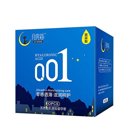 ALIKEEY 10PC Naturlatexkautschuk Kondome Ultradünn 0.01