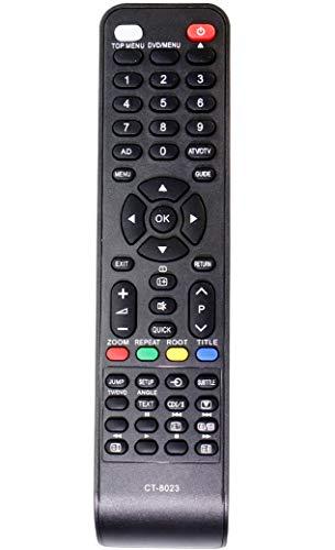 ALLIMITY CT-8023 Fernbedienung Ersetzt für Toshiba TV DVD Combi 22DL833F 22DL833G 19DL833B 22DL834B 23DL933F 26DL833F 26DL833G 26DL833N 26DL834G 26DL933G 26DL934G 32DL833 32DL833G 32DL834G