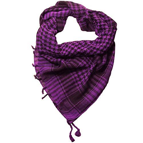 LOVARZI Palästinenser Tuch Violett Lila stylische und vielfältige Tuch für junge Männer und Frauen