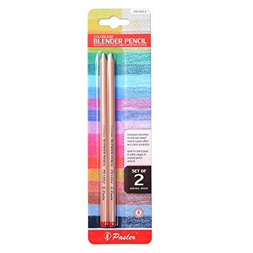 Pasler Lápices de batidora incoloros – Lápiz de licuadora profesional para mezclar, capas y suavizar los bordes de las ilustraciones de lápiz de colores (2 unidades)