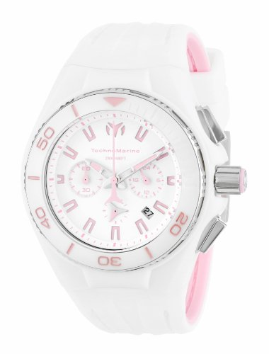 TechnoMarine Unisex 113012 'Cruise White Vision II' Stainless Steel Watch with Interchangeable Band