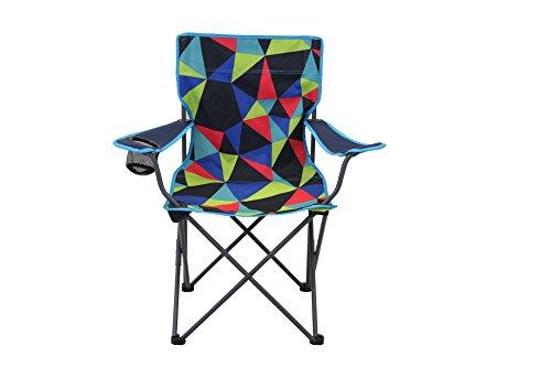 Portal Dub Electro campingstoel, tot 100 kg, klapstoel met bekerhouder en armleuningen, visstoel