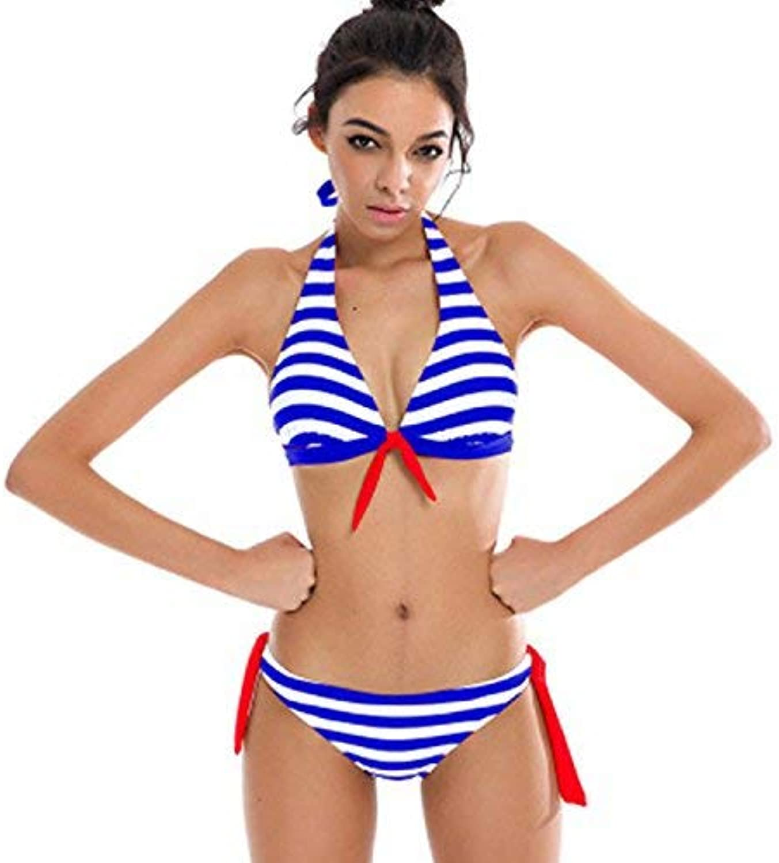 Der Strip Bikini Coor Stripes Bikini Back Bikini, Europe And The Unit States. Women's swimwear