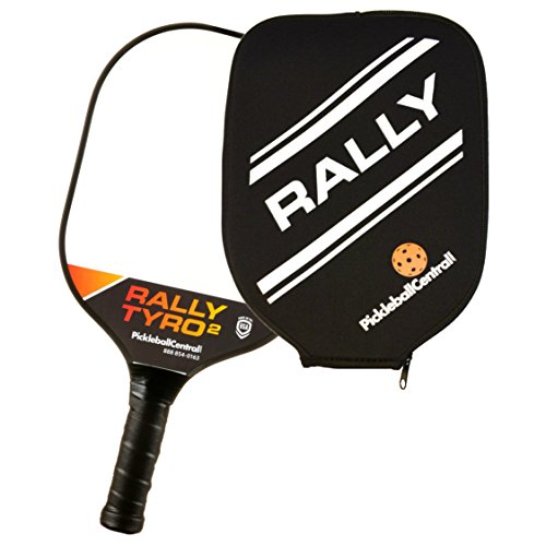 PickleballCentral Rally Tyro 2 Pickleball Paddle Composite Polypropylene Honeycomb Core and Fiberglass Face | Racket or Pickleball Sets with Balls