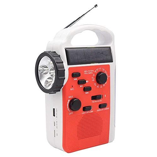 【緊急用・非常用・防災グッズ】大容量バッテリー 防災ラジオライトRD399 手回し発電 太陽光充電 AM/FMラジオ LED懐中電灯・ランタン付き スマートフォン・携帯電話充電可能 2300mAh大容量バッテリー/乾電池使用可能 Bluetooth機能付き