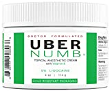 Uber Numb 5% Lidocaine Topical Anesthetic Cream Advanced Formula Rapid Absorption Non-Oily...