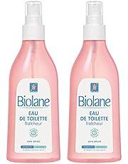 Biolane - Eau de toilette fraîcheur - spray 200 ml - Lot de 2 - Parfumer bébé - Fille Garçon - Fabriqué en France