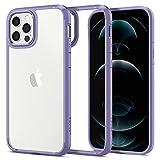 Spigen Ultra Hybrid Hülle Kompatibel mit iPhone 12 Pro und Kompatibel mit iPhone 12 -Iris Purple
