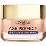 L'Oreal Paris Skincare Age Perfect Rosy Tone Cooling Night Moisturizer, Face Moisturizer to Reactivate Rosy Radiance and Firm skin, more supple skin overnight, 1.7 oz