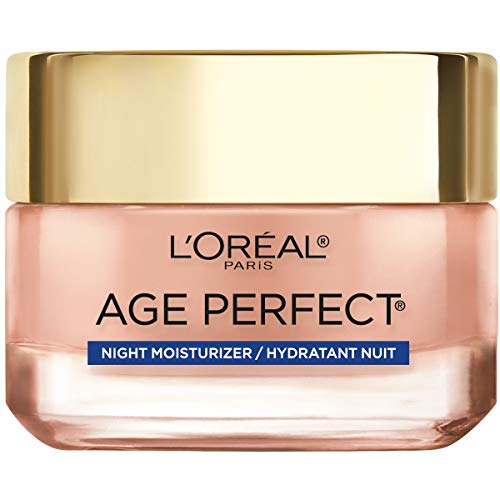 LOreal Paris Skincare Age Perfect Rosy Tone Cooling Night Moisturizer, Face Moisturizer to Reactivate Rosy Radiance and Firm skin, more supple skin overnight, 1.7 oz