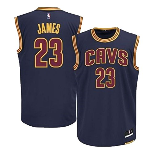 Outerstuff Lebron James Cleveland Cavaliers Navy Blue Alternate Replica Youth Jersey (Small 8)